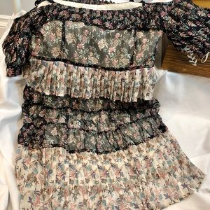 FOXIEDOX dress M NEW with some tags - ruffles!